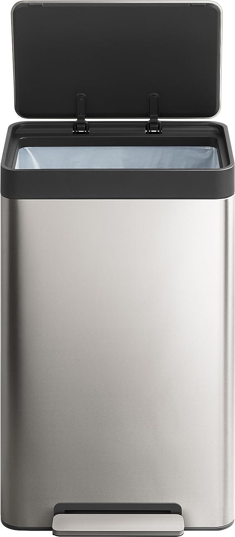Kohler 20940-ST 13-Gallon Stainless Trash Can Stainless Steel