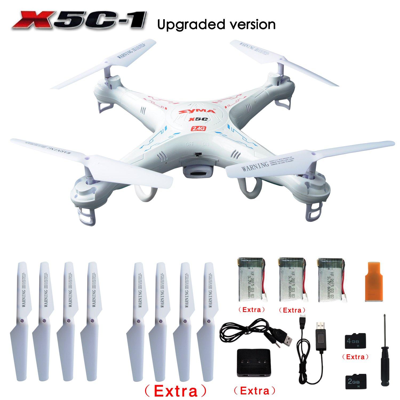 SYMA X5C-1 RC Quadcopter With Extra 4 Rotating Blade, 2...