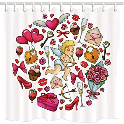 Image Unavailable Not Available For Color SZZWY Valentines Day Shower Curtains