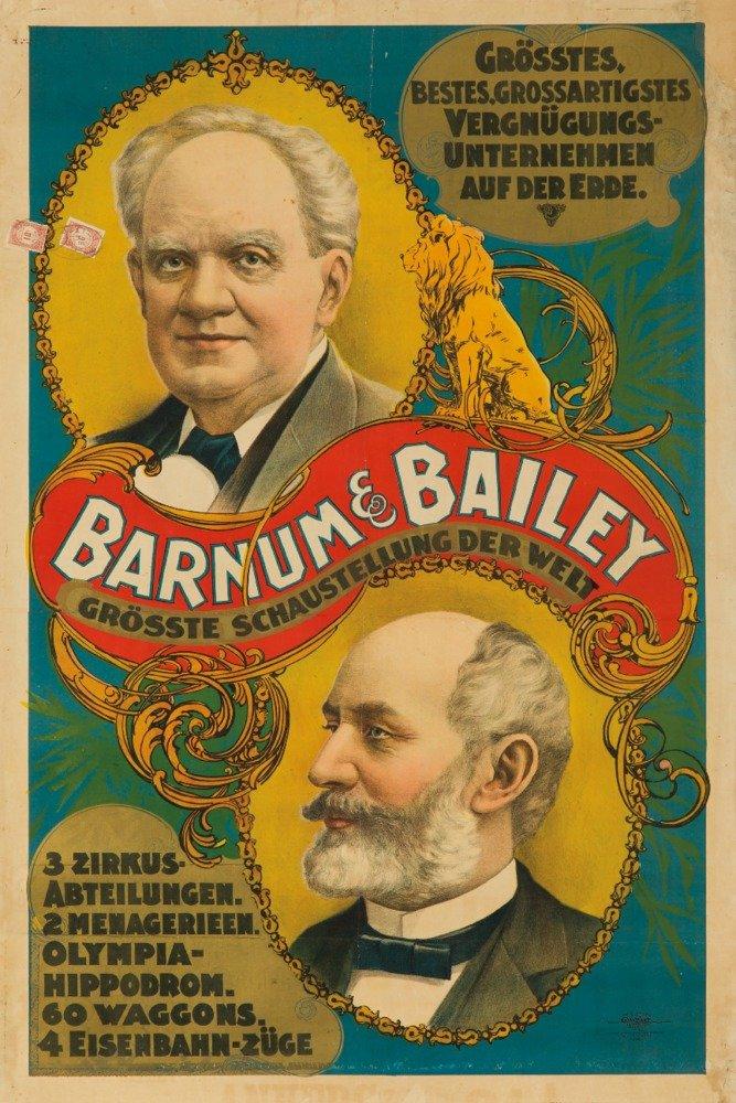 P。T。バーナムとベイリー( Cameos、ドイツ語テキスト)ヴィンテージポスターUSA C。1901 36 x 54 Giclee Print LANT-62885-36x54 36 x 54 Giclee Print  B01MPVN4JH