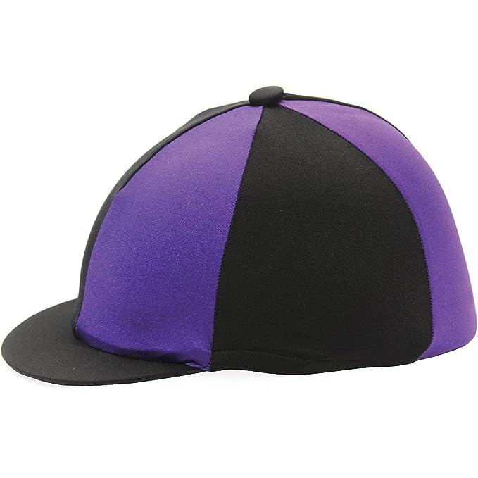 Hy Two Tone Lycra Riding Hat//Jockey Skull Cap Silk Navy /& Powder Blue One Size
