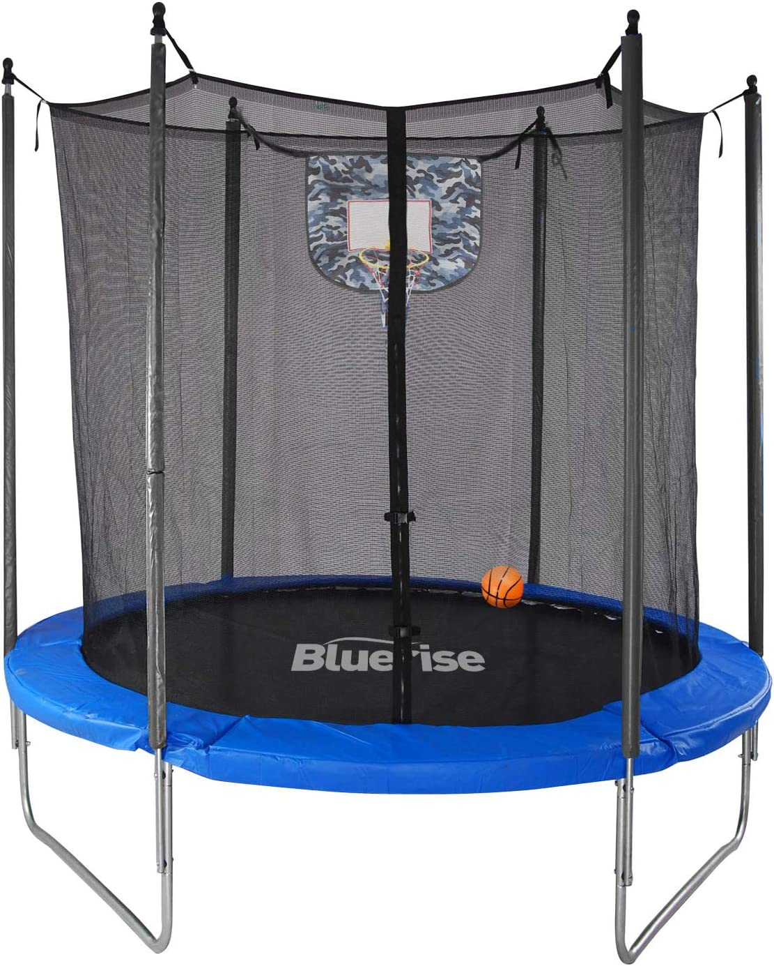 Bluerise 6ft 72 Trampoline For Kids With Enclosure Net Toddler Trampoline With Basketball Hoop Easy To Assemble Little Tikes Trampoline Personal Indoor Trampoline For Kids Small Trampoline Outdoor Sports