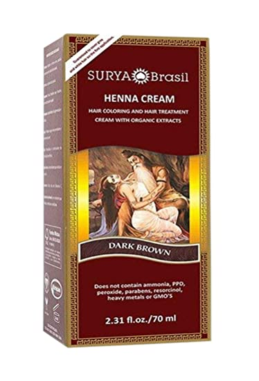 Amazon Com Surya Brasil Henna Dark Brown Cream 2 37 Ounce Hair