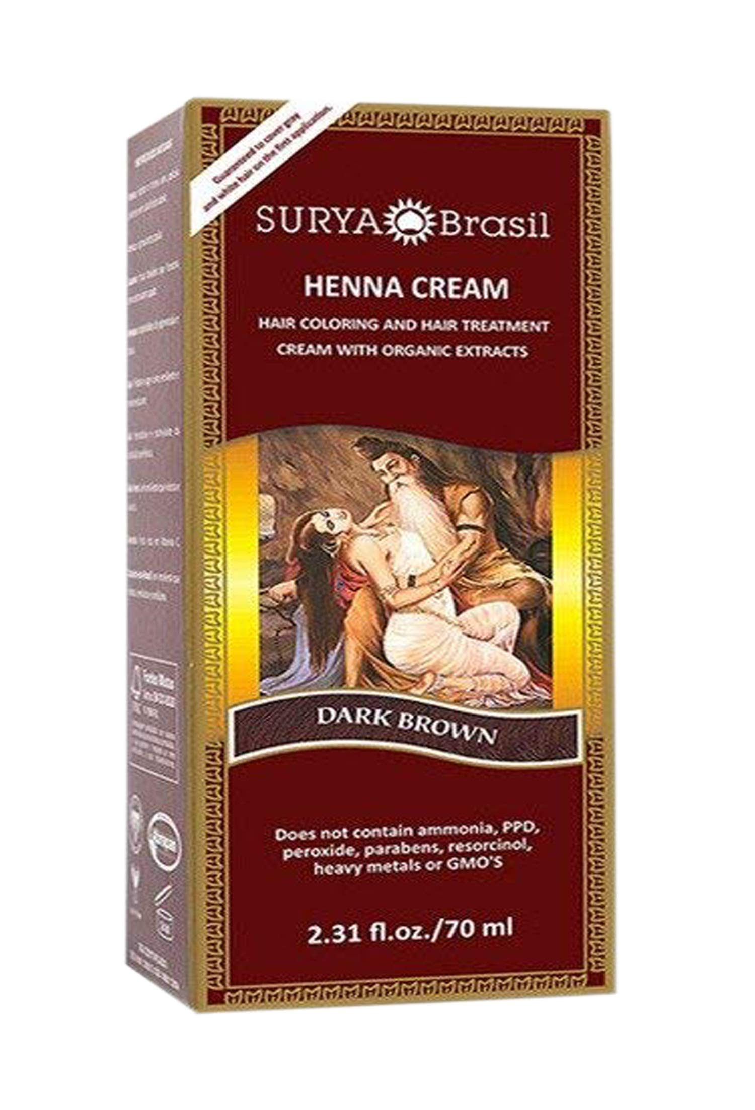 Surya Brasil Henna Dark Brown Cream - 2.37 Ounce
