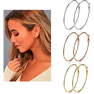 cf7103e41698f Amazon Best Sellers: Best Women's Hoop Earrings