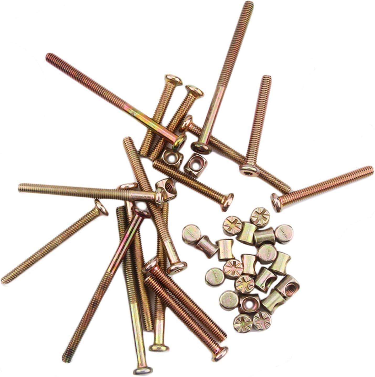 M6 x 25 mm Bronze Meubles Connecteur Boulons /& Cross Dowel Barrel écrous fixation Unité