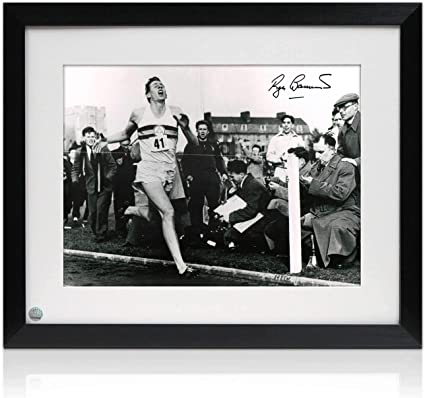 First Under 4 Minute Mile Roger Bannister Signed Photograph
