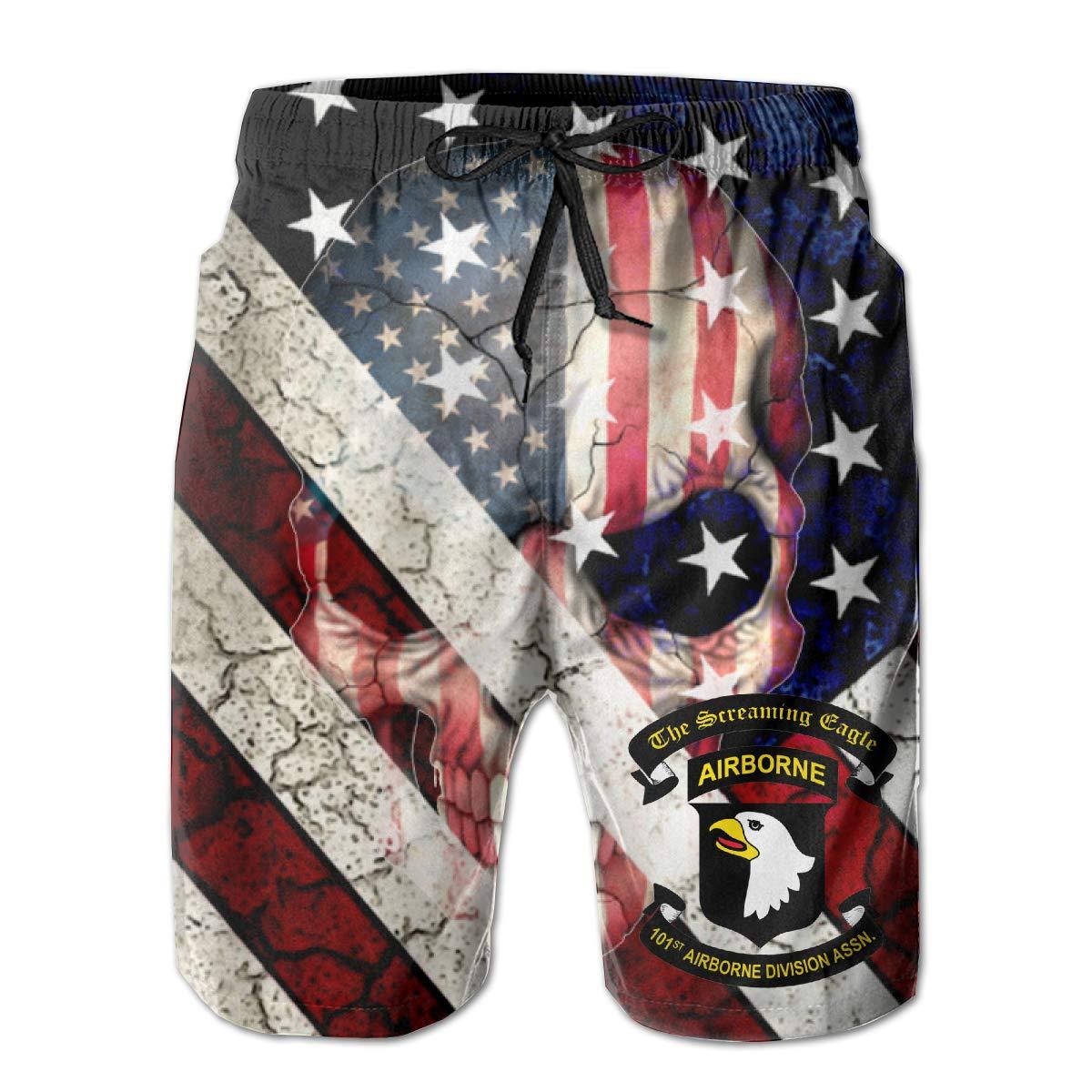 CCNXFGOK 101st Airborne Division Association Boardshorts Mens Swimtrunks Fashion Beach Shorts Casual Shorts Swim Trunks