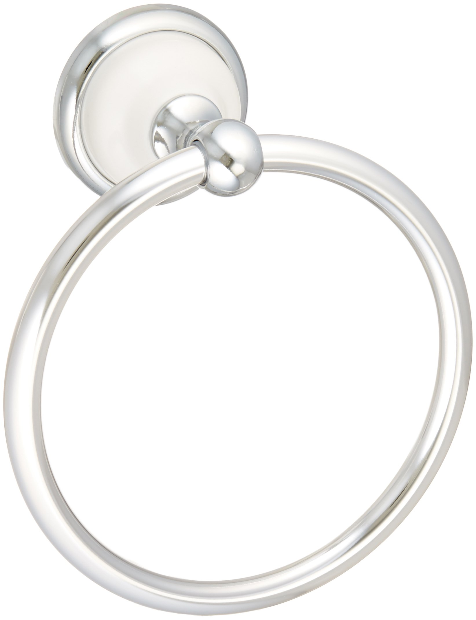 Franklin Brass  126882 Bellini Towel Ring, Polished Chrome & White by Franklin Brass