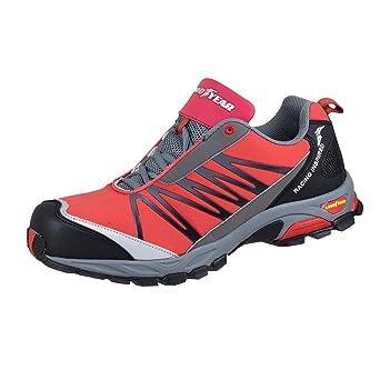 Goodyear GYSHU1500 - Zapatos de Seguridad Deportiva, Color Rojo, Talla 42