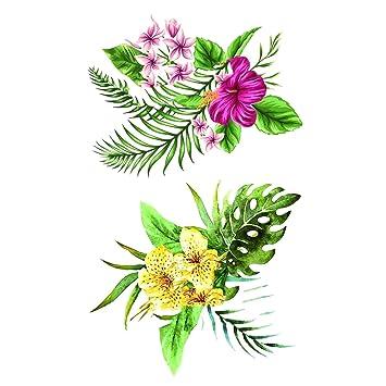 Flower Temporary Tattoos For Women Hand Tattoo Amazon Com