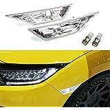 iJDMTOY (2) Xenon White LED Lights w/ JDM Clear Lens Side Marker Lamps For 10th Gen Honda Civic Sedan/Coupe/Hatchback