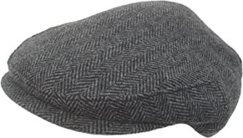 d8dd919a9a3 Headchange Made in USA 100% Wool Ivy Scally Cap Black Herringbone Driver Hat