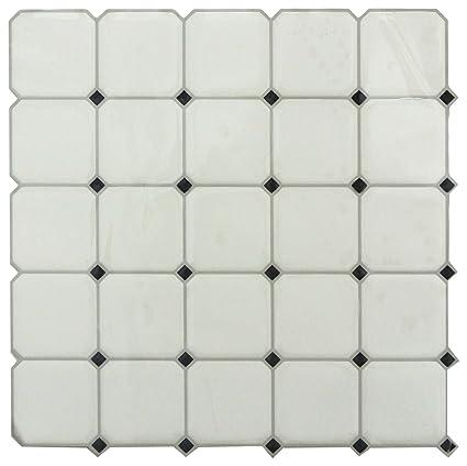 Roommates Sticktiles Black White Diamond Peel And Stick Backsplash