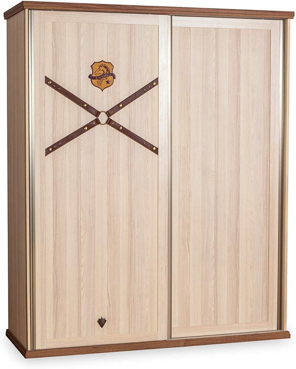 Armario para dormitorio con puertas correderas, numerosos cajones y estantes – con luz LED interna-cm: 166 cm H 200 cm 60 cm. (DF11): Amazon.es: Hogar