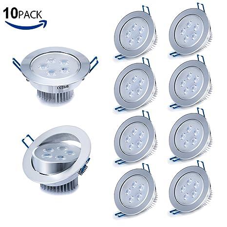 Liqoo® 10X 5W Focos Empotrable LED Incluye Transformador Luz de Techo Downlight Projector Blanco Frío
