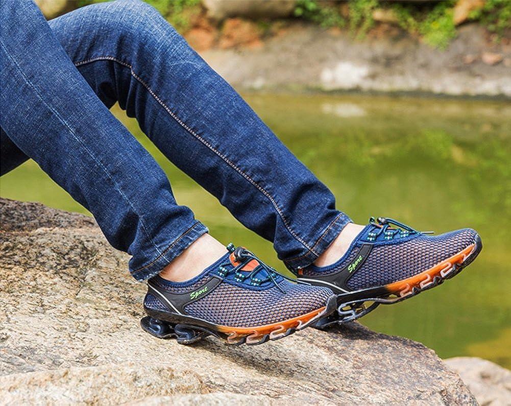 HUAN Lovers Sneakers Uomo Mesh Scarpe da Corsa Traspiranti Scarpe da Ginnastica di Grandi Dimensioni Unisex Scarpe da Trekking per Esterni (Color : E, Dimensione : 38)