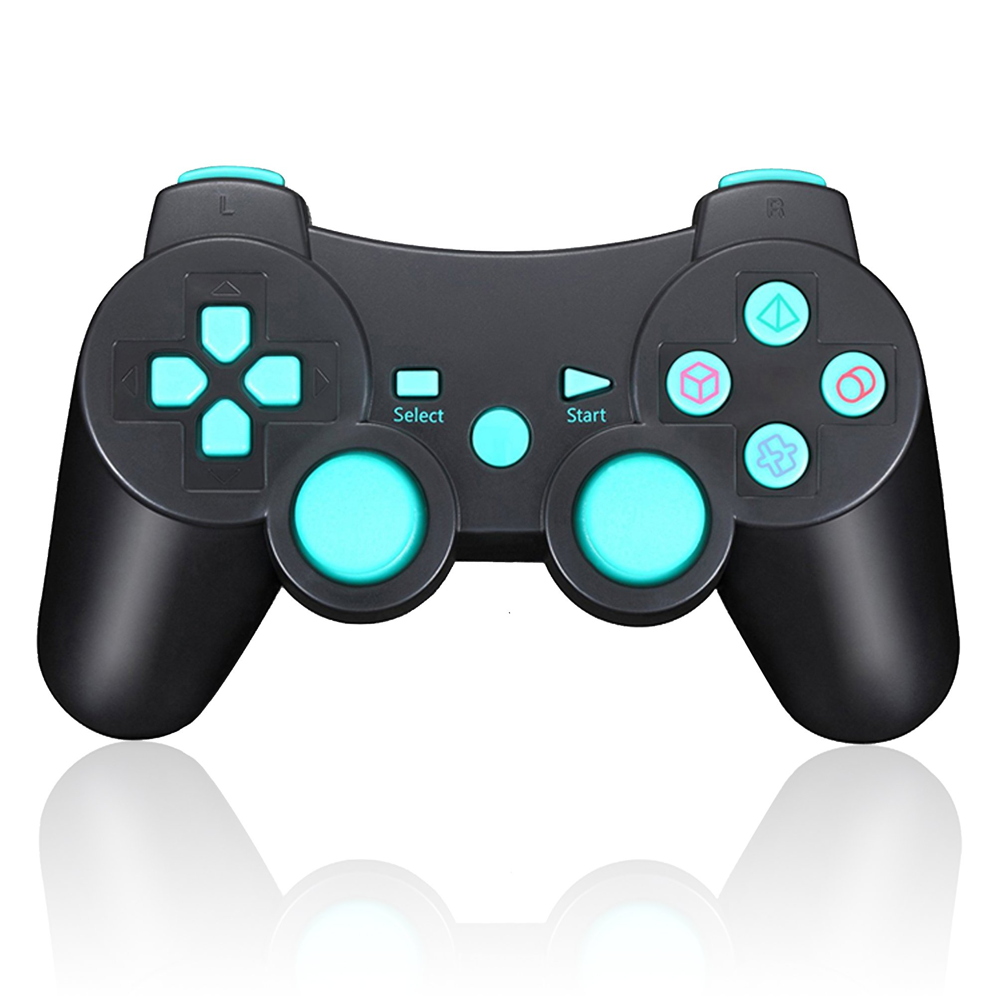 TPFOON PS3 Controller Wireless, Double Vibration SIXAXIS Gamepad Remote for Sony Playstation 3 DualShock 3 PC