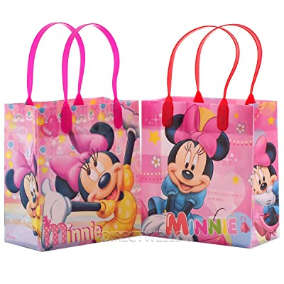 Disney Minnie Mouse Reusable Premium Party Favor Goodie Small Gift Bags 12 (12 Bags): Toys & Games