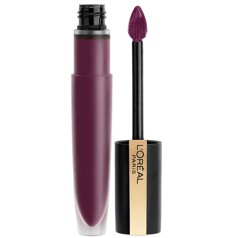 L'Oréal Paris Makeup Rouge Signature Matte Lip Stain, Weightless, High Pigment Lasting Color, I Enjoy, 0.23 oz.