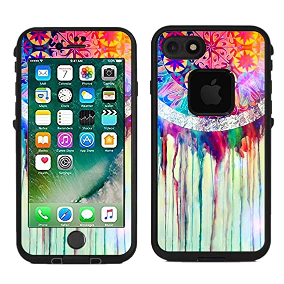 Protective designer vinyl skin decals stickers for lifeproof fre iphone 7 iphone 8 case