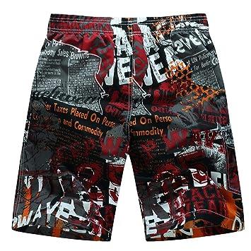LONGCVRD Pantalones Cortos de Playa para Hombre M-6XL Tallas ...