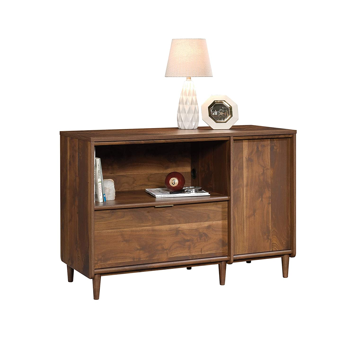 Sauder 421317 Clifford Place Credenza, For TV s up to 46 , Grand Walnut finish