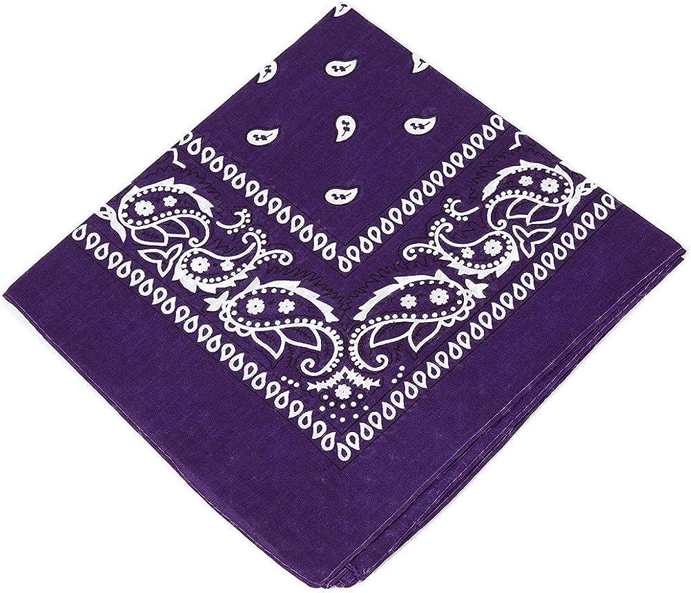 Girls,Men /& Boys 100/% Cotton Bandana Headscarf//Neck Scarf//Neckerchief//Handkerchief//Head Tie Pack of 3 X High Quality Paisley Bandana Headbands for Women Purple,Lilac,Light Pink