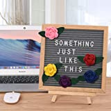Felt Changeable Letter Board with Flowers 10x10