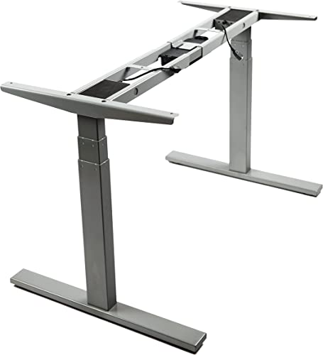 VWINDESK VJ201-S3 Electric Height Adjustable Sitting Standing Desk Frame Only/Sit Stand