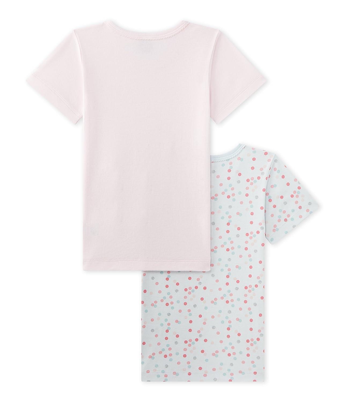 Size 2 Style 25731 Girls Petit Bateau Girls 2 Pack S//S Undershirts Style 25731 Sizes 2-12