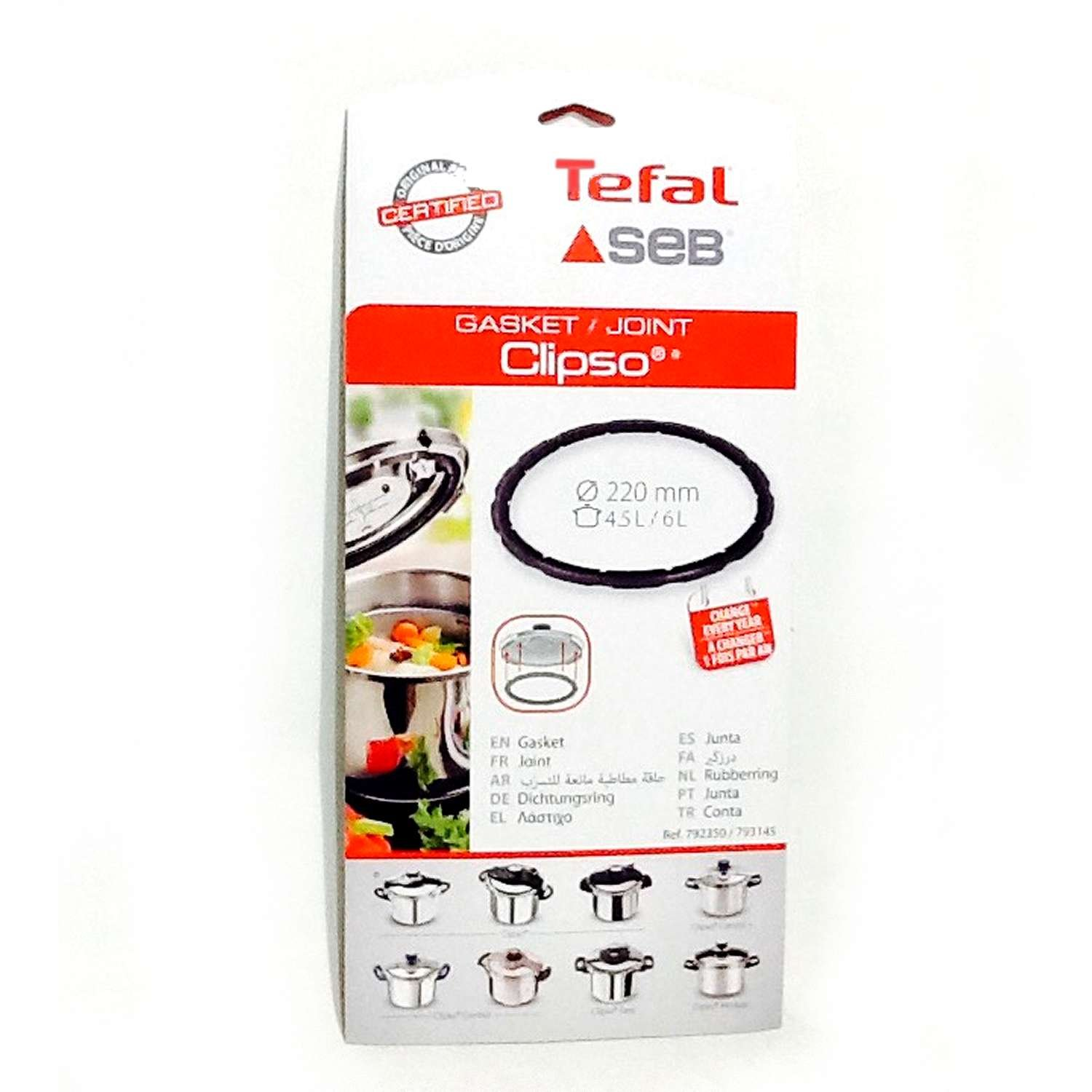 T-Fal 792350 Clipso 6L Pressure Cooker Sealing Ring