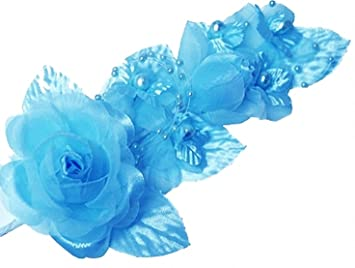 Amazon 3 turquoise silk flowers pearl organza corsages 5x 3 turquoise silk flowers pearl organza corsages 5quotx 25quot mightylinksfo
