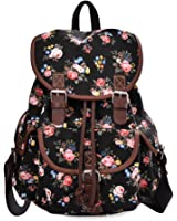 DGY Canvas Backpack / Nylon Backpack Floral Backpack Print Cute Backpack for Teen Young Girls