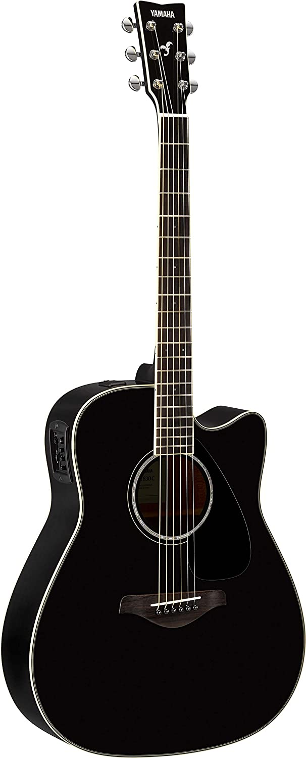 Yamaha FSX830C Small Body Solid Top Cutaway Acoustic-Electric Guitar, Natural Yamaha PAC