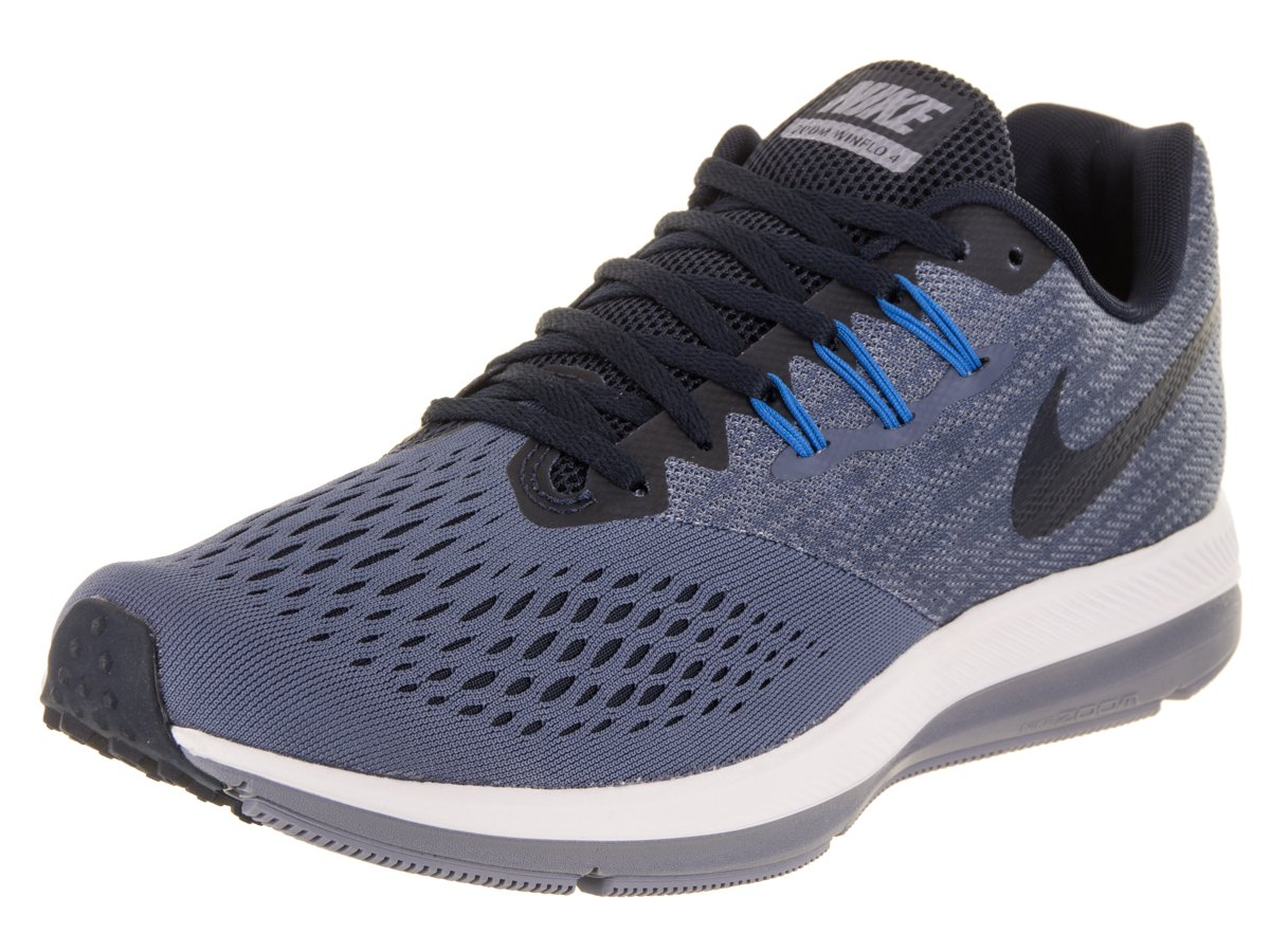 94a52eafe34c Galleon - NIKE Mens Zoom Winflo 4 Blue Obsidian Dark Sky Blue Size 12
