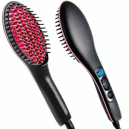 pelodecerámicacalefaccióneléctricaclassusmadurascerodañoseficazde pelo de cepillo para pelo largo de pelo corto con pantalla LCD de la Temperatura