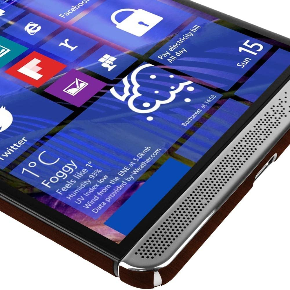 TechSkin with Anti-Bubble Clear Film Screen Protector Skinomi Dark Wood Full Body Skin Compatible with HP Elite x3 Full Coverage