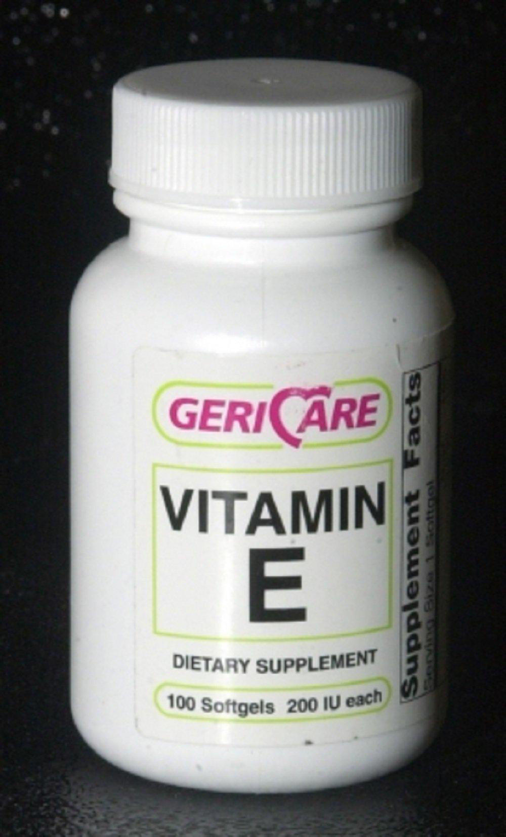 MCK75102710 - Mckesson Brand Vitamin E Supplement McKesson Brand 200 IU Strength Softgel