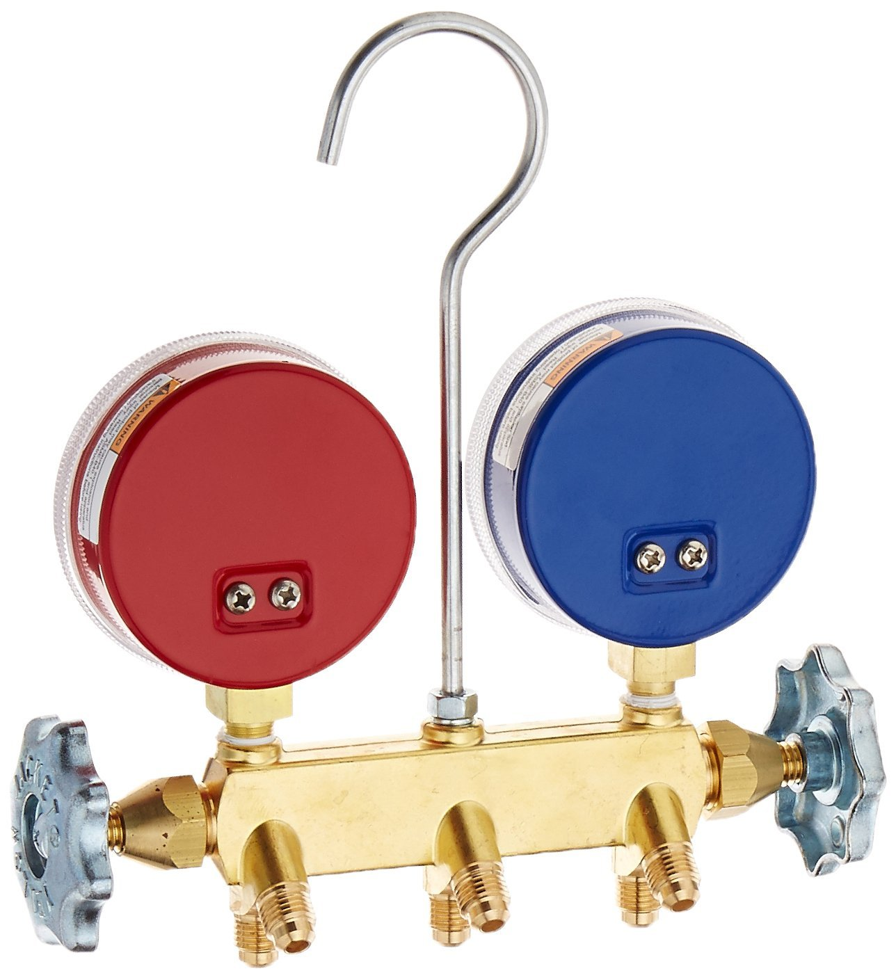 R-134A//404A//507 60 Yellow Jacket 41355 Series 41 Manifolds with 2-1//2 Gauges bar//psi Red//Yellow//Blue