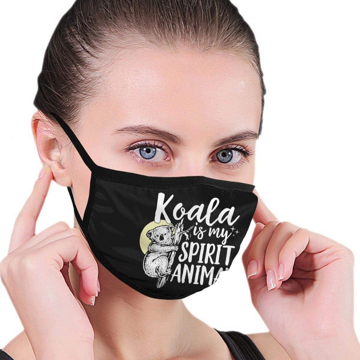 Not Koala Is My Spirit - Funda para la nariz de animal, antipolvo, reutilizable, fibra de poliéster, negro, talla única