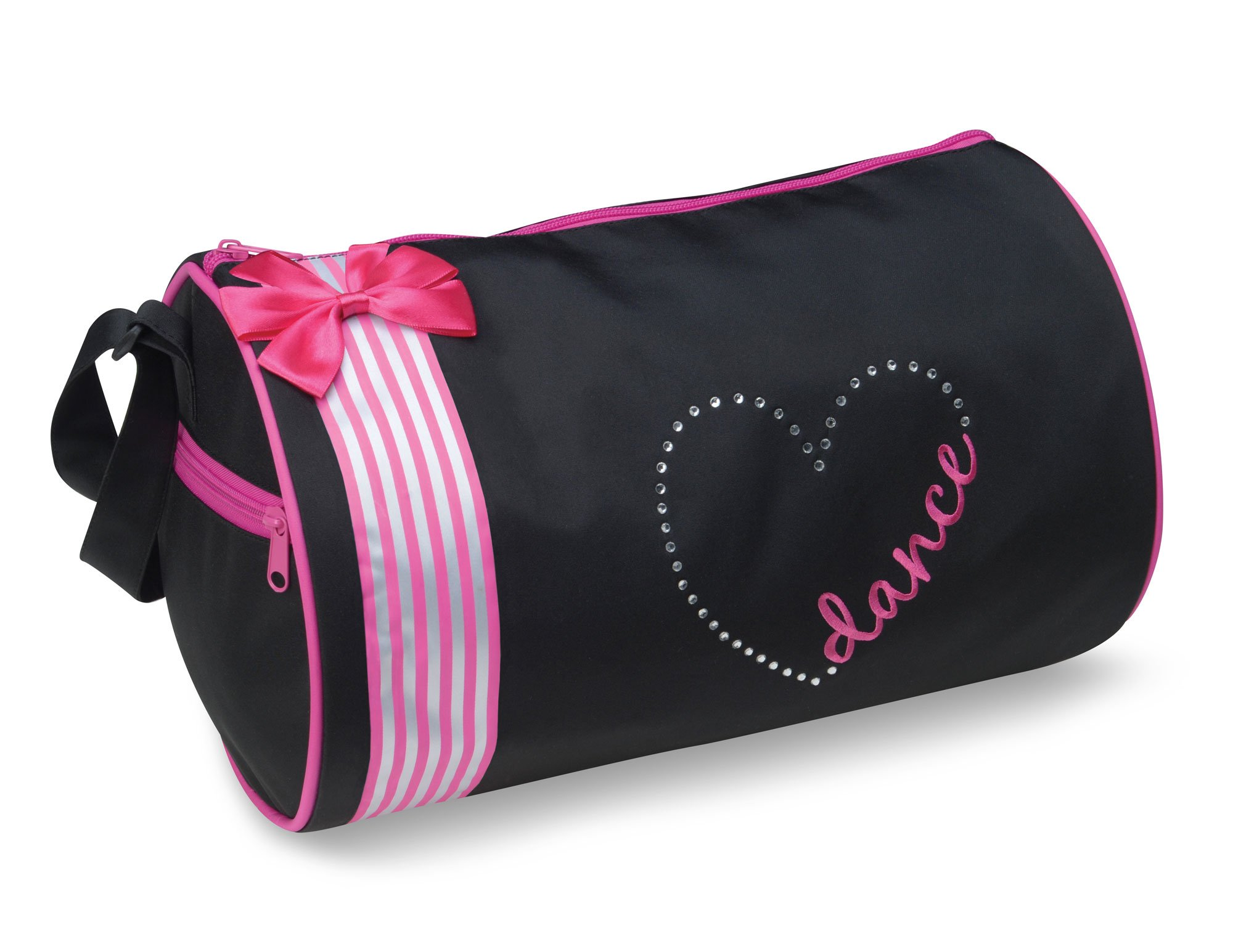 Dansbagz By Danshuz Women's Dance Heart Duffel Bag, Black, Pink, OS