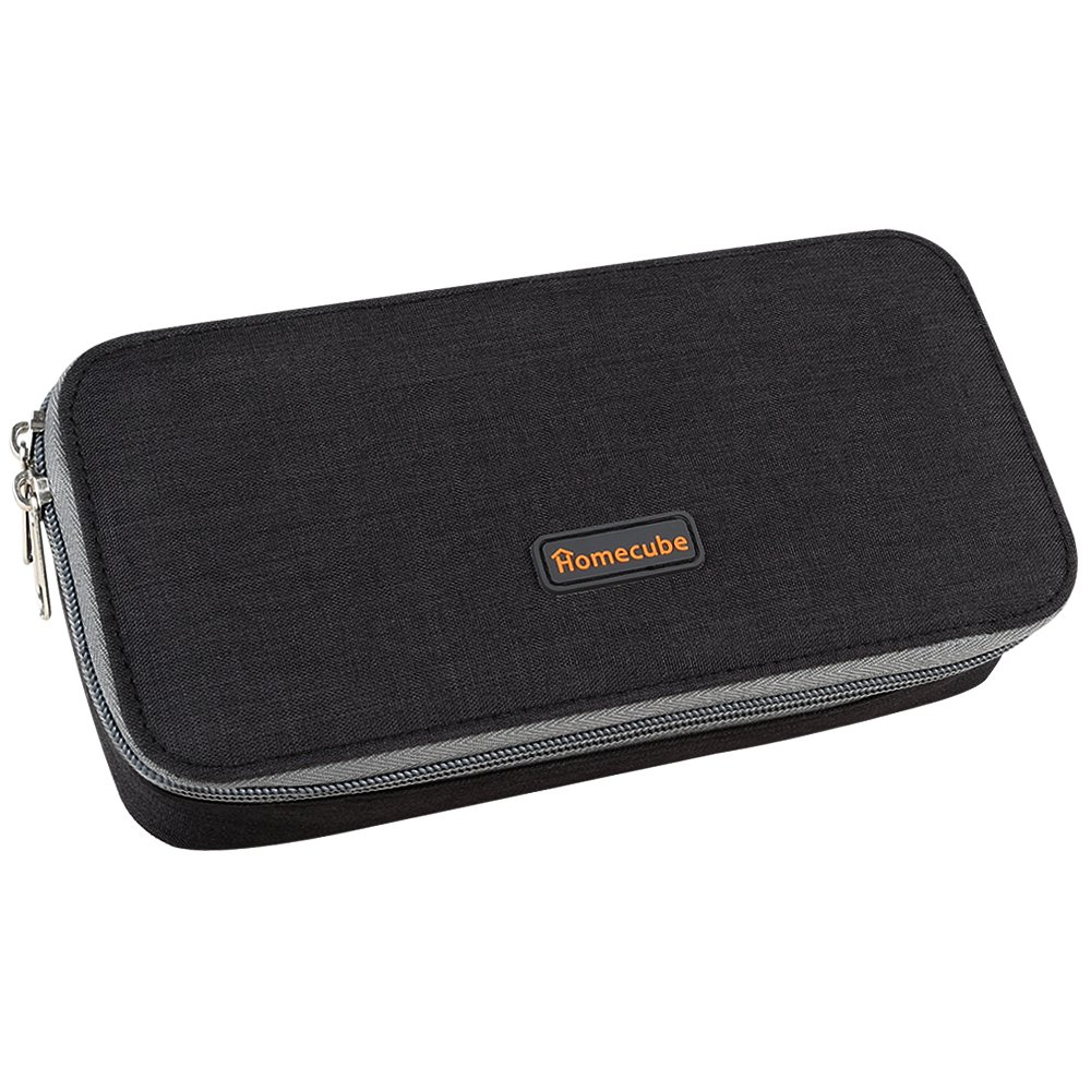 Homecube Pencil Case, Big Capacity Pen Case Desk Organizer with Zipper for School & Office Supplies - 8.7x5.5x3.3 inches, Black