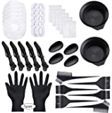 47 Pieces Dying Hair Bleaching Tools Salon Dye Kit Hair Tinting Bowl, Dye Brush, Ear Cover, Bleaching Gloves for Salon…