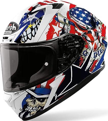 AIROH VALOR /'ROCKSTAR/' MATT BLACK GRAPHIC FULL FACE MOTORCYCLE HELMET