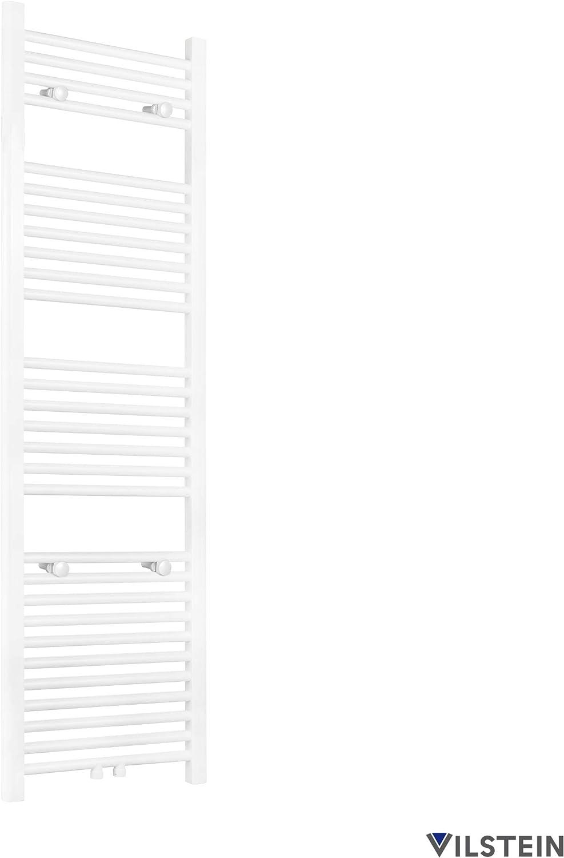 Flach VILSTEIN Bad Heizk/örper 1500x450 mm Wei/ß Seitenanschluss und Mittelanschluss