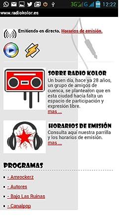Amazon.com: Radio Kolor. La radio libre de Cuenca.: Appstore ...