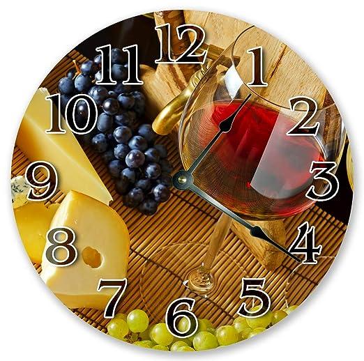 Sugar Vine Art 10 5 Wine Clock With Fruit Grapes Large 10 5 Wall Clock Home Decor Clock