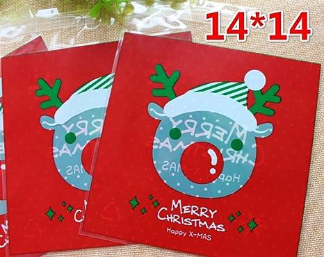 Hacoly Navidad Caramelos Bolsas para Dulces Rojo Cabeza de ...