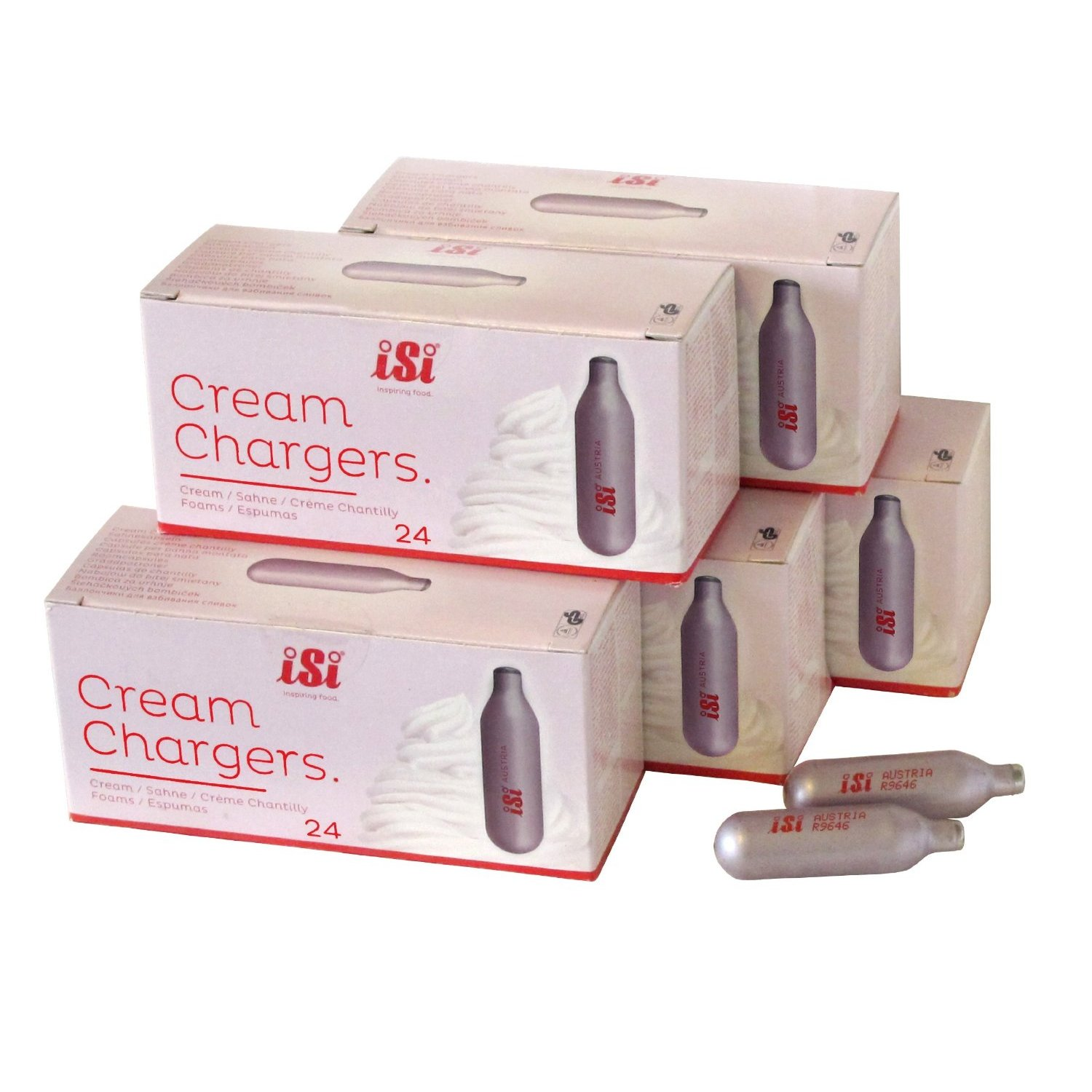 iSi N2O Whipped Cream Charger, 120 Count